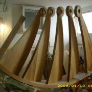 Hajlított fa lépcső - Artjoinerrel együttműködésben